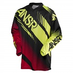 Pánský MX dres ANSWER Syncron Jersey Black Red Acid 2017