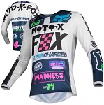 Pánský MX dres FOX 180 Czar Jersey Light Grey 2019