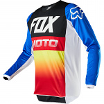 Pánský MX dres FOX 180 Fyce Jersey Blue Red 2020