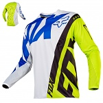 Pánský MX dres FOX 360 Creo Jersey White Yellow 2017
