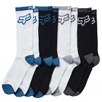 Ponožky FOX Core Basic Crew Sock 8 Pack Maui Blue
