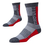 Ponožky na kolo TroyLeeDesigns Performance Crew Sock Block Red