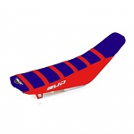 Potah sedla BudRacing Seat Cover FullTraction Beta RR 13-19 Blue Red Red Stripes