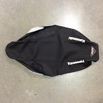 Potah sedla BudRacing Seat Cover TechGrip Kawasaki KX250F KX450F Black Kawasaki logo