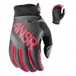 MX rukavice ANSWER Syncron Glove Black Grey Red 2017
