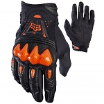Rukavice na moto a mtb FOX Bomber Glove Black Orange 2018