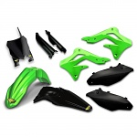 Sada plastů Cycra PowerFlow Plastic Kit Kawasaki KX250F 13-16 Green Black