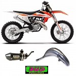 Výfuk a koncovka BUD Racing Pipe + Silencer KTM SX125 19-.. HQ TC125 19-..